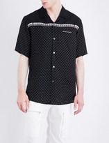 Undercover Polka dot and piano-print satin shirt