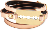McQ by Alexander McQueen Leather Bracelet with Razor Blade Motif