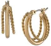 Lauren Ralph Lauren Layered Twist Hoop Earrings