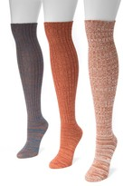 Muk Luks Marl Knit Knee High Sock - Pack of 3