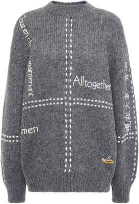 Stella McCartney Embroidered Alpaca-blend Sweater