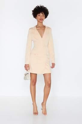 Nasty Gal Womens I'M Busy Blazer Dress - White - 8