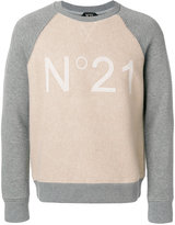 No.21 logo print sweatshirt - men - Polyamide/Viscose/Wool - M