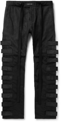 Fear Of God Slim-Fit Tapered Shell-Trimmed Suede Drawstring Trousers