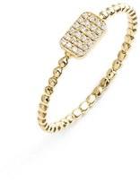 Nordstrom Bony Levy 'Aurora' Diamond Pavé Rectangle Ring Exclusive)