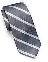Michael Kors Striped Woven-Silk Tie