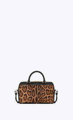 Saint Laurent Duffle 6 Baby Duffle Bag In Ponyskin-look Leather With A Leopard Print Natural Onesize