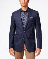 Tallia Men's Big & Tall Navy Windowpane Sport Coat