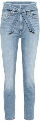 7 For All Mankind Paperbag high-rise skinny jeans
