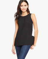Ann Taylor Petite Colorblock Swing Shell