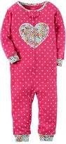 Carter's Toddler Girl Heart Applique Pajamas