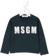 MSGM logo print top - kids - Cotton - 9 mth