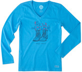 Life is Good Crusher Vee T-Shirt Long Sleeve