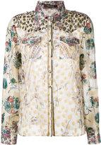 Roberto Cavalli lurex jacquard blouse - women - Silk/Polyester - 46