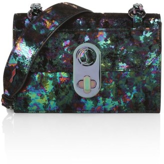 Christian Louboutin Mini Elisa Iridescent Leather & Suede Shoulder Bag