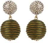 Amrita Singh Sari Pom Pom Crystal Drop Earrings.
