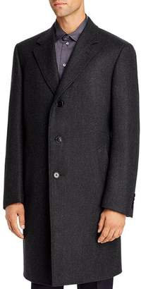 Canali Chevron Wool & Cashmere Classic Fit Topcoat