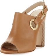 Etienne Aigner Kierra Grommet Leather Sandal, Natural