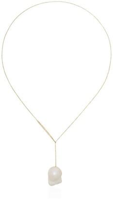 Sophie Bille Brahe 14kt gold Sirene pearl pendant necklace