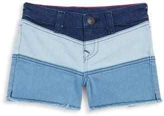 True Religion Girl's Joey Colorblock Denim Shorts