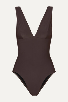 BONDI BORN + Net Sustain Veronica Swimsuit - Brown