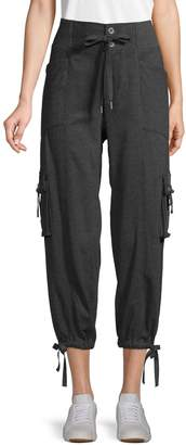 Free People Cropped Cotton-Blend Jogger Pants