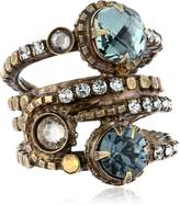 "Sorrelli Neutral Territory"" Stacked Crystal Ring"