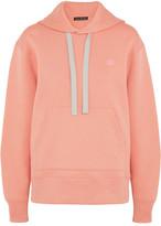 Acne Studios Ferris Oversized Appliquéd Cotton-jersey Hooded Top - Blush
