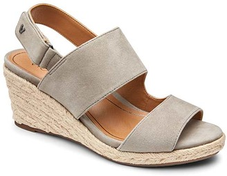 Vionic Women's Sandals DRKTPE - Dark Taupe Brooke Suede Sandal - Women
