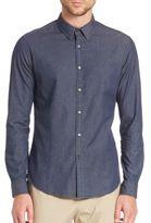 Theory Zack Long Sleeve Cotton Blend Shirt