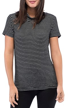 Bobeau B Collection By B Collection by Kurt Striped Mock-Neck Knit Tee