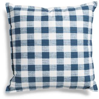 Made In Usa 22x22 Linen Plaid Pillow