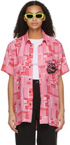 Thumbnail for your product : SSENSE WORKS SSENSE Exclusive Jeremy O. Harris Pink Print Rose Bowling Shirt