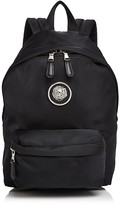 Versace Lion's Head Small Nylon Backpack