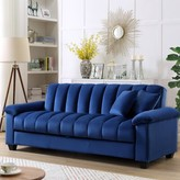 """Terrie 83"""" Pillow Top Arms Sleeper Sofa Willa Arlo Interiors Upholstery Color: Blue"""