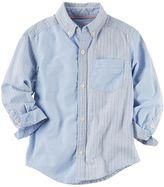 Carter's Toddler Boy Woven Oxford Striped Button-Down Shirt