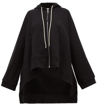 Loewe Oversized Drawstring Hooded Cotton Sweatshirt - Womens - Black