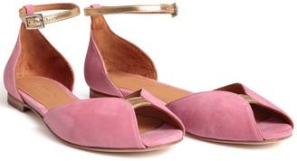 Emma.Go Emma Go - Rose & Gold Juliette Suede Sandal - 37 - Pink/Gold