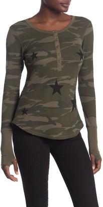 Sweet Romeo Green Camo Black Star Long Sleeve T-Shirt