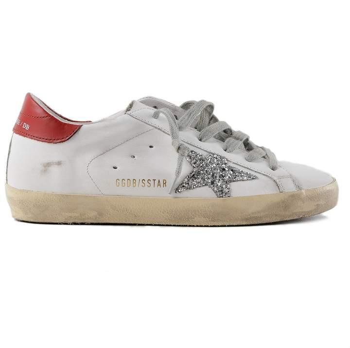 Golden Goose Glittered Star Superstar Sneakers