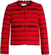 Sonia Rykiel Striped cotton-blend tweed cropped jacket