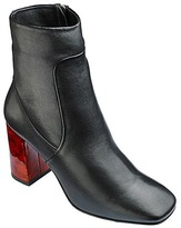 Lorraine Kelly Tortoise Heel Ankle Boots Standard D Fit