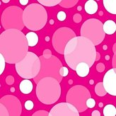 Stokke SheetWorld Fitted Oval Mini) - Hot Pink Floating Bubbles - Made In USA - 58.4 cm x 73.7 cm ( 23 inches x 29 inches)