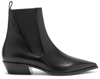 Burberry Grampian Leather Chelsea Boots - Black