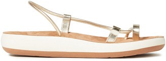 Ancient Greek Sandals Afea Metallic Leather Platform Sandals