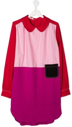Marni TEEN colour block shirt dress