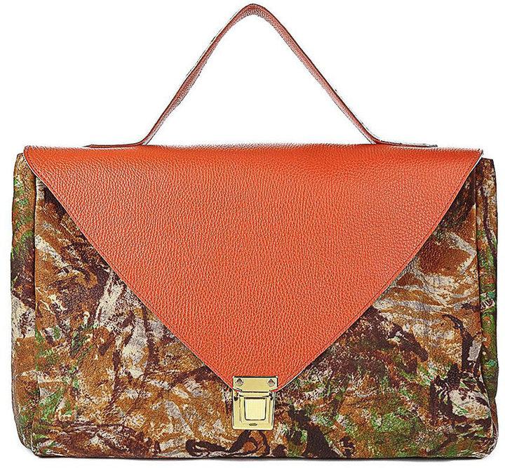 American Apparel Orange Camouflage Leather Envelope Case