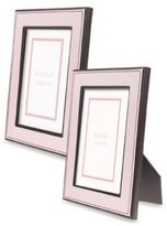 "Argento Pink 5"" x 7"" Faux Leather Photo Frame"