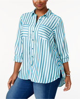 Melissa McCarthy Trendy Plus Size High-Low Shirt