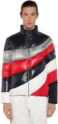 Moncler Argentiere Asymmetric Quilt Down Jacket